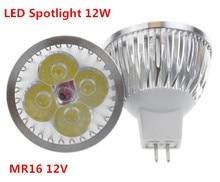 1 قطعة/الوحدة عالية الطاقة الإضاءة MR16/GU5.3 12 فولت/110 فولت/220 فولت 12 واط عكس الضوء led الأضواء مصباح لمبة الدافئة/نقية/كول الأبيض LED ضوء