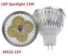 1 יח\חבילה גבוהה כוח תאורה MR16/GU5.3 12V/110V/220V 12W ניתן לעמעום led זרקור מנורת הנורה חם/טהור/מגניב לבן LED אור