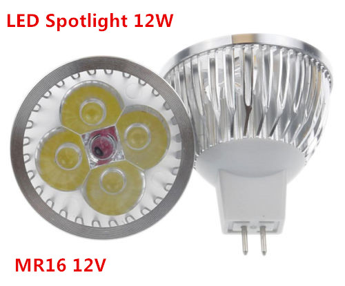 1pcs/lot High Power Lighting MR16 12V  12W  Dimmable Led Spotlight Lamp Bulb Warm/pure/cool White LED Light