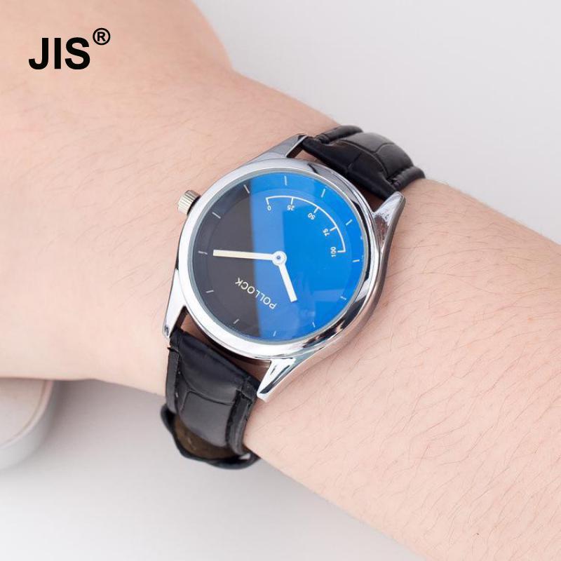 Hot Sale Fashion Blue Ray Waterproof Leather Quartz Clock Wristwatches Wrist Watch