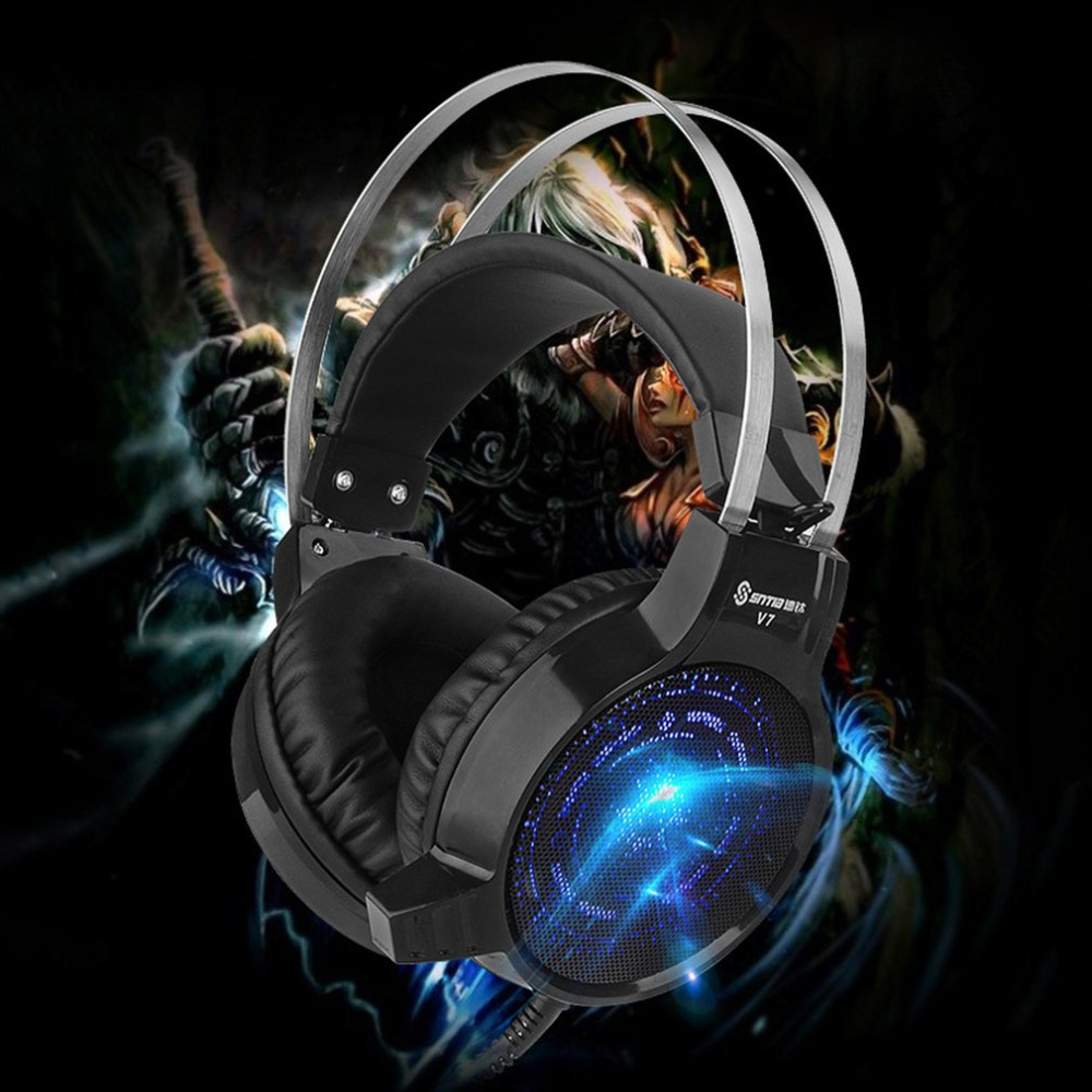 Gaming Headphones Professional Computer PC Earphone Colorful Deep Bass Gaming Gamer Headphone Headset With Microphone for Games high quality gaming headset with microphone stereo super bass headphones for gamer pc computer over head cool wire headphone