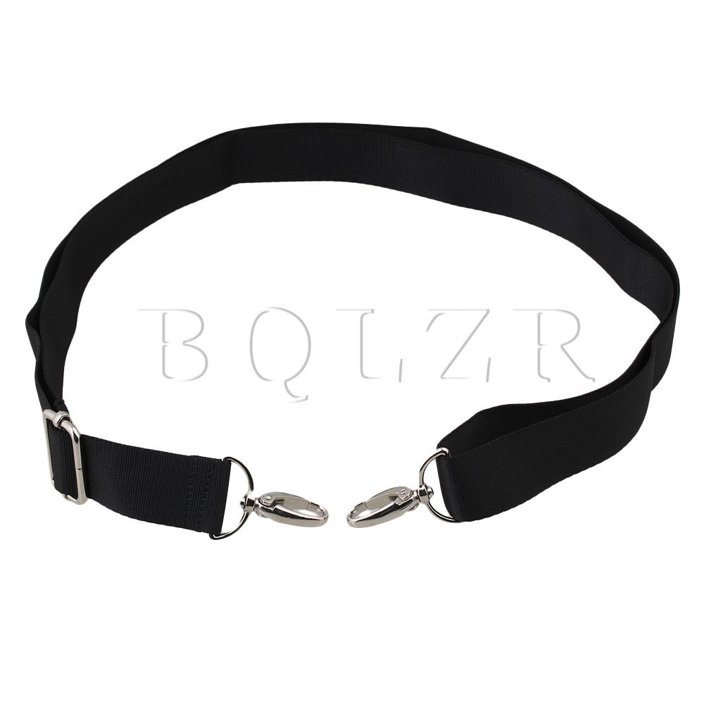 BQLZR 3CM Black Nylon Shoulder Strap Adjustable Crossbody Shoulder Replacement