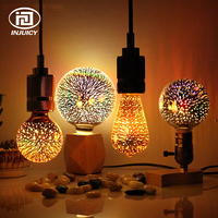 Edison Novelty 3D LED E27 Colorful Fireworks Light Bulb Vintage Atmosphere Decorative Christmas Holiday light Bulb