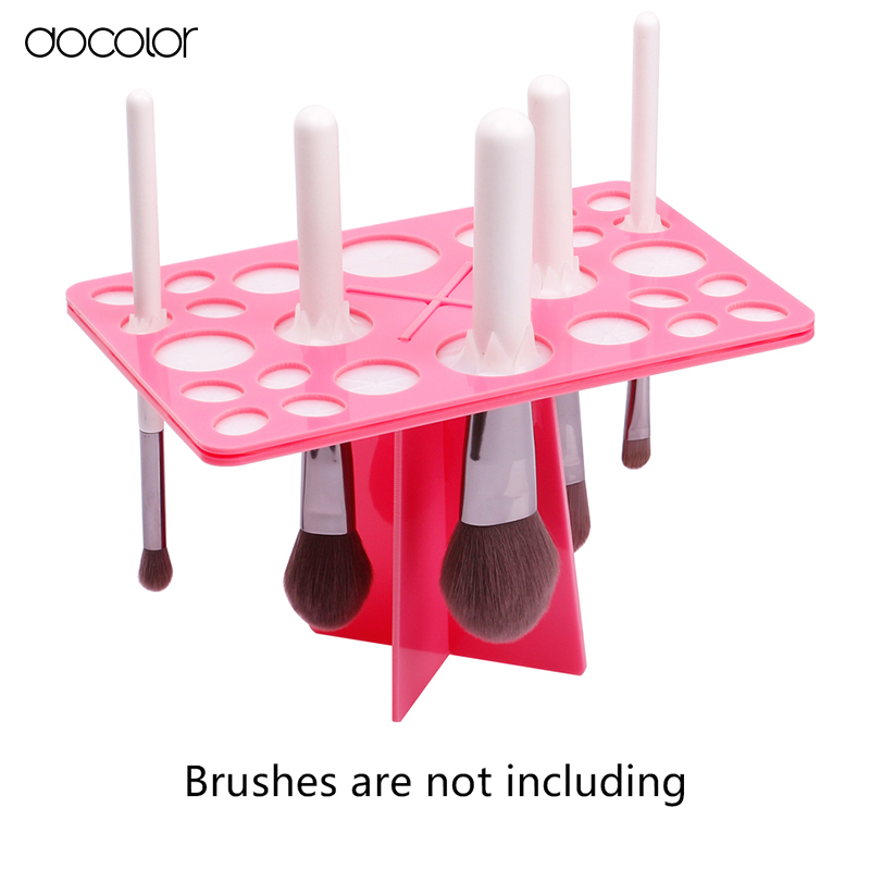 Docolor Make-up Brush Organizer Stojak Tree Dry Brush holder Pędzle Akcesoria Comestic Brushes Aside Hang Tools Darmowa wysyłka