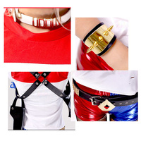Free Shipping Suicide Squad Hare Quinn Accessories Belt Accessories Harry Quinn Quinn Bracelets