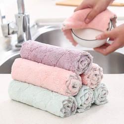 YINUO бытовой Кухня Полотенца s абсорбент толще двойной слой из микрофибры протрите стол Кухня Полотенца очистки ткань для мытья посуды