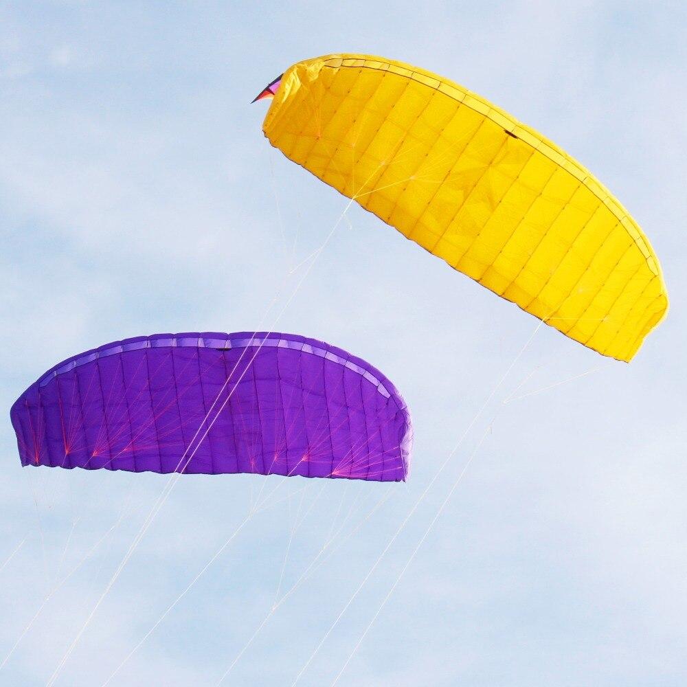 Nouvelle arrivée 5 carré quatre lignes cerfs-volants PARAFOIL PARACHUT SPORTS plage cerf-volant facile à voler pour le plaisir des jouets en plein air
