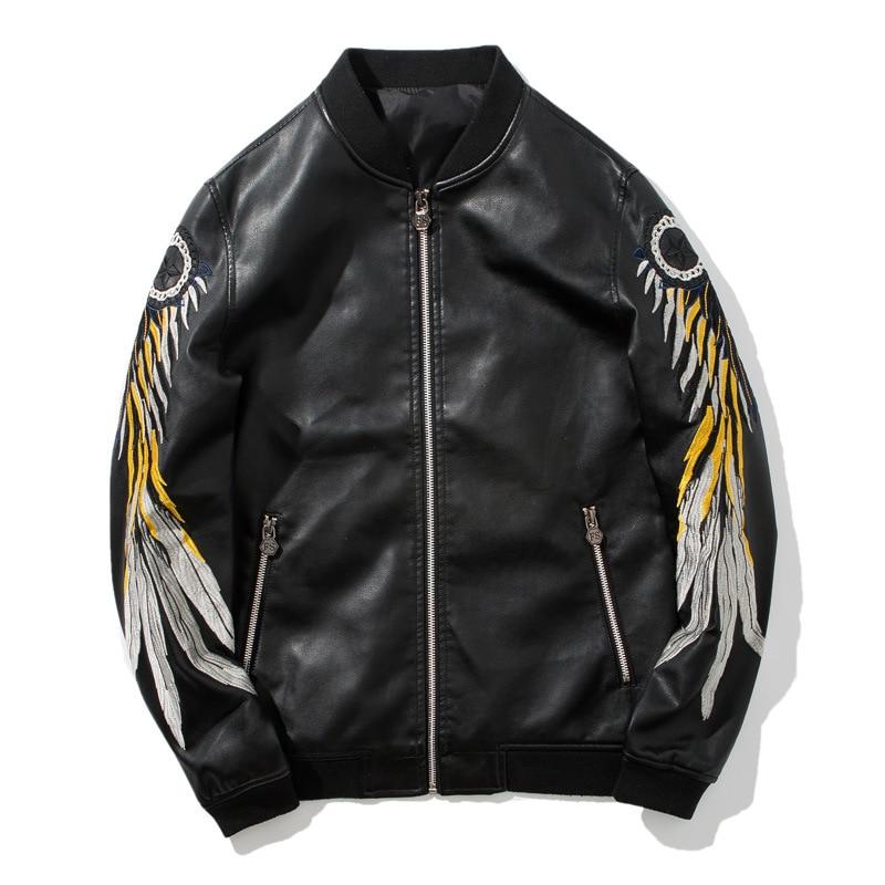 Automne hiver moto veste en cuir hommes collège luxe Baseball vestes Faux cuir manteaux hommes pilote Bomber veste