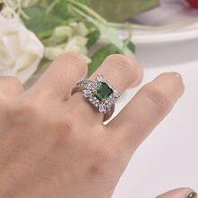 Лидер продаж квадратное кольцо принцессы Из Инкрустированного
