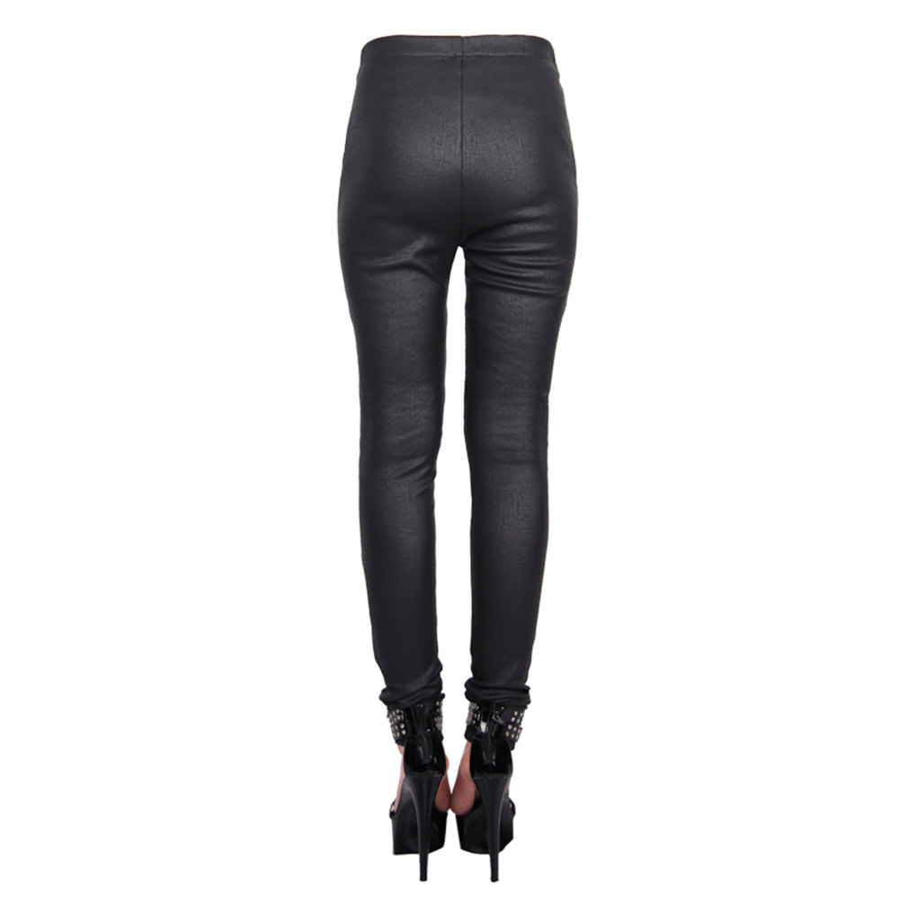 Leggings de látex Rosa Sexy talla grande pantalones de goma flacos LTW063 para mujer - 6