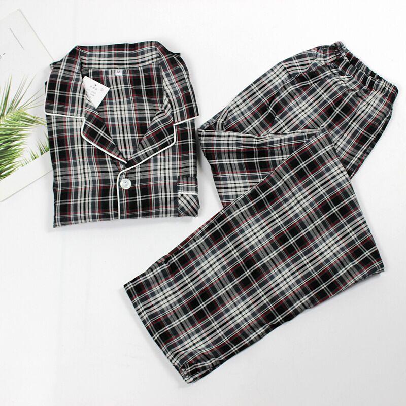 2019 Spring Striped Pyjamas Men Cotton Sleepwear Long-sleeved Casual Nightwear Home Clothes Male 2 Pcs Suit Homewear