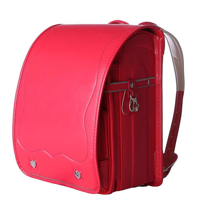 Популярный студенческий Рюкзак PU ортопедические школьные рюкзаки сумка Детский рюкзак для мальчиков и девочек Япония рандосеру малыш Твердые Книга сумка