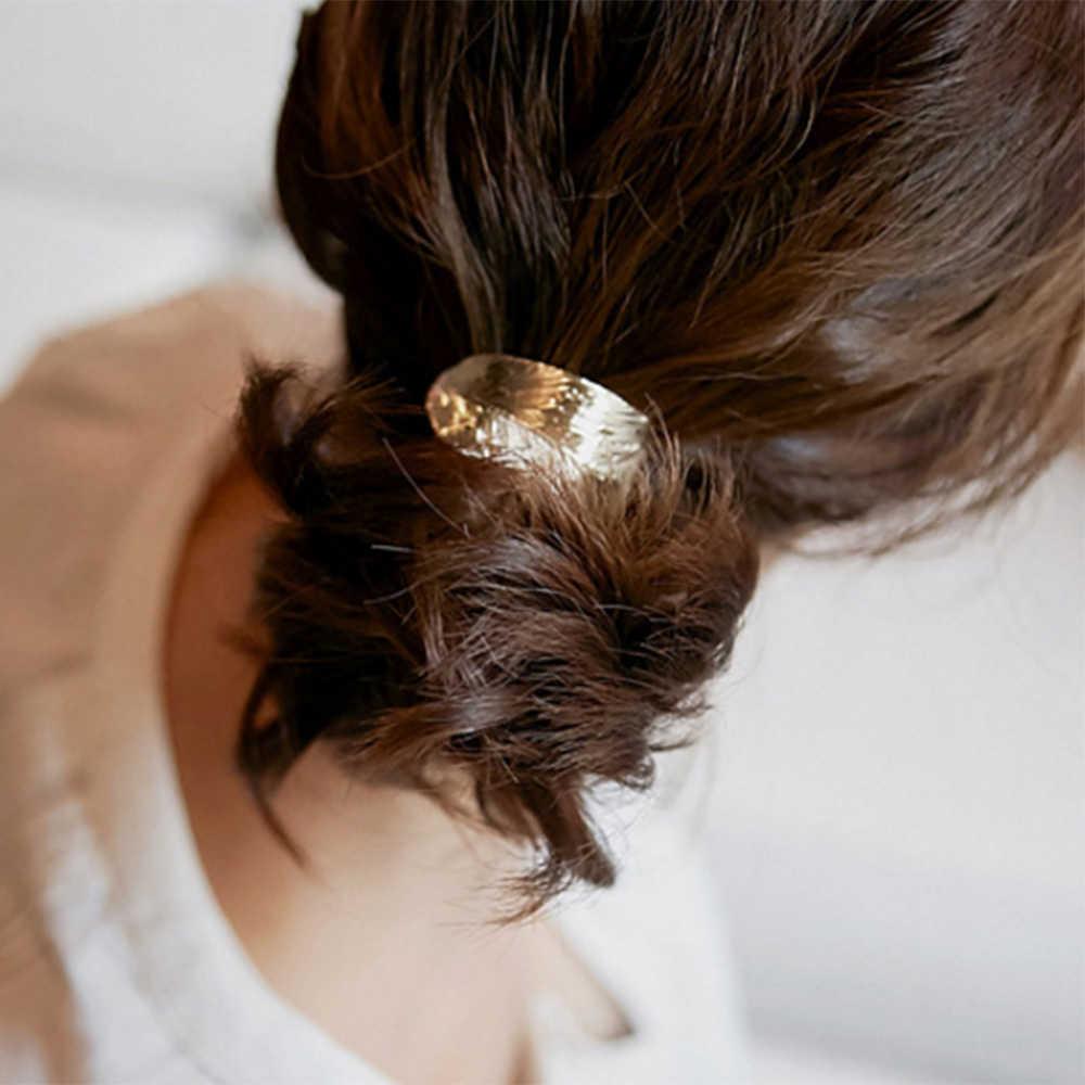 IPARAM 2019 moda gorąca kobieta liść gumka do włosów z elastycznym kucykiem Party Holiday Hairband akcesoria do włosów