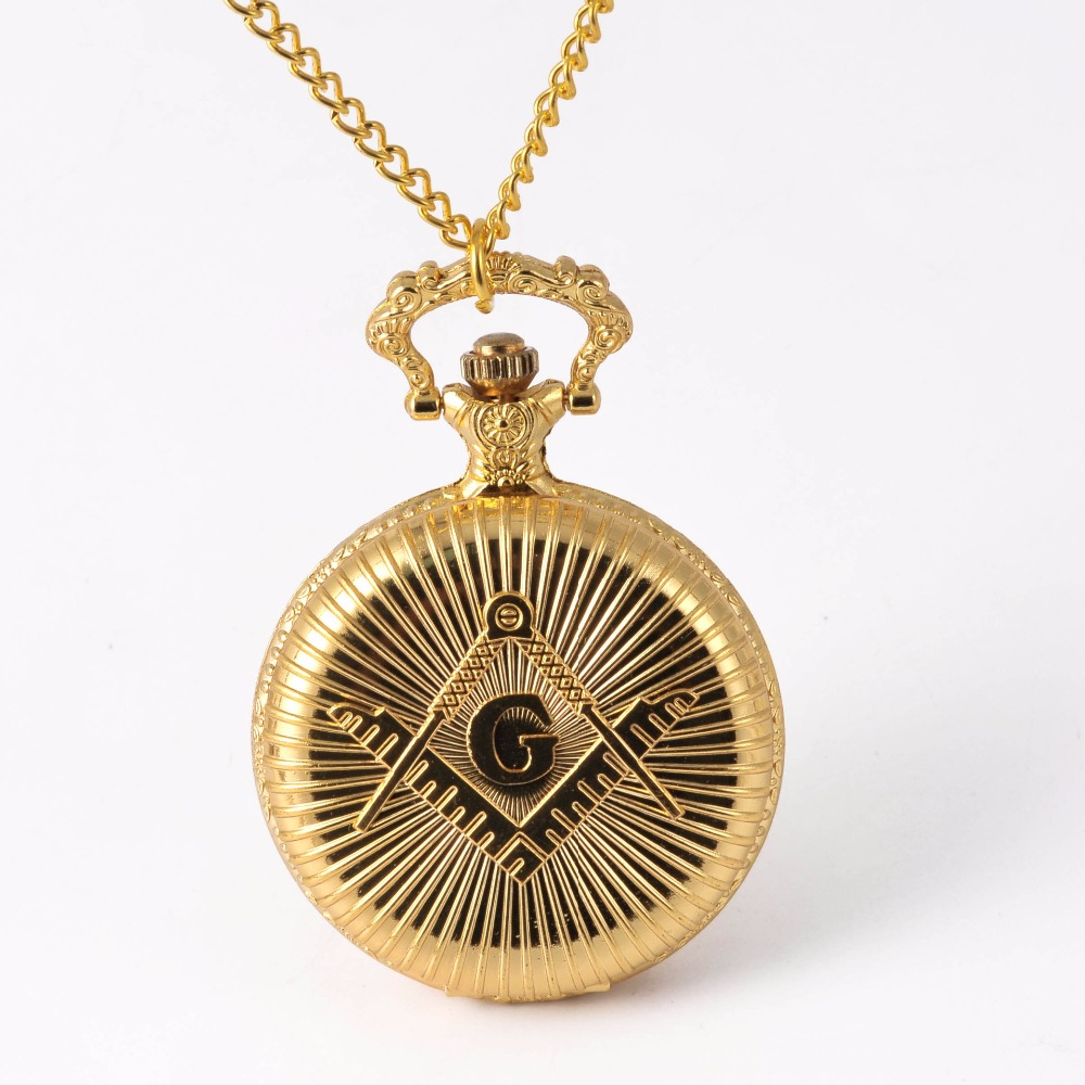 8882   G Word  Gift Smooth Quartz Pocket Watch Full Gold Men's Women's Fashion Retro Blessing Hand Wind Double Hunter