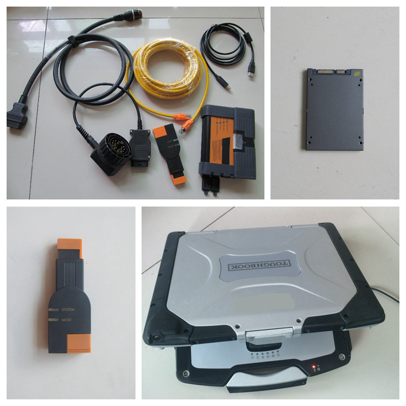 Diagnostic & programming tool for bmw icom a2 b c with icom a2 software with laptop cf-30 toughbook 2016.12v ssd direct use