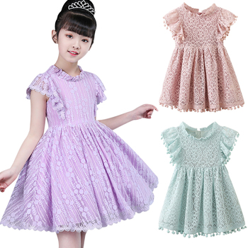 4a57b2bd0665583 Детское бальное платье для девочек новое белое летнее кружевное платье для  маленьких девочек 6, 7, 8 лет, праздничное платье принцессы для дня.