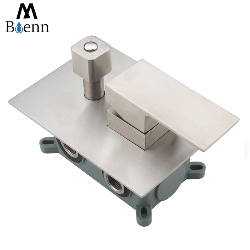 304 Stainless Steel Shower Faucets Concealed Mounted Bathroom Shower Mixer Faucet 2 3 Ways Shower Valve