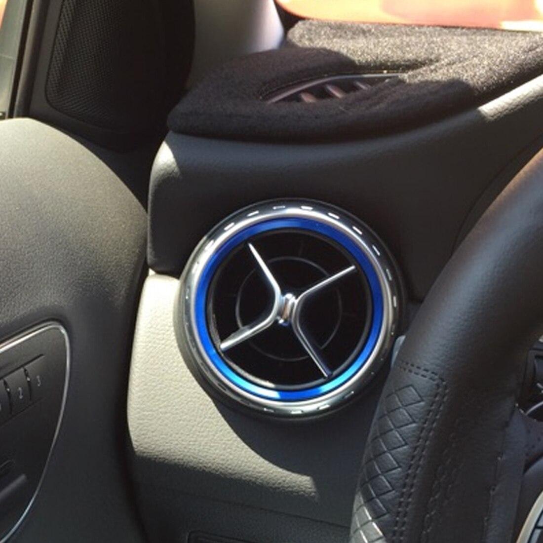 Dewtreetali Автомобиль Стайлинг кондиционер вентиляционное отверстие кольцо выхода крышка отделка украшения для Mercedes Benz A B класс AMG аксессуары