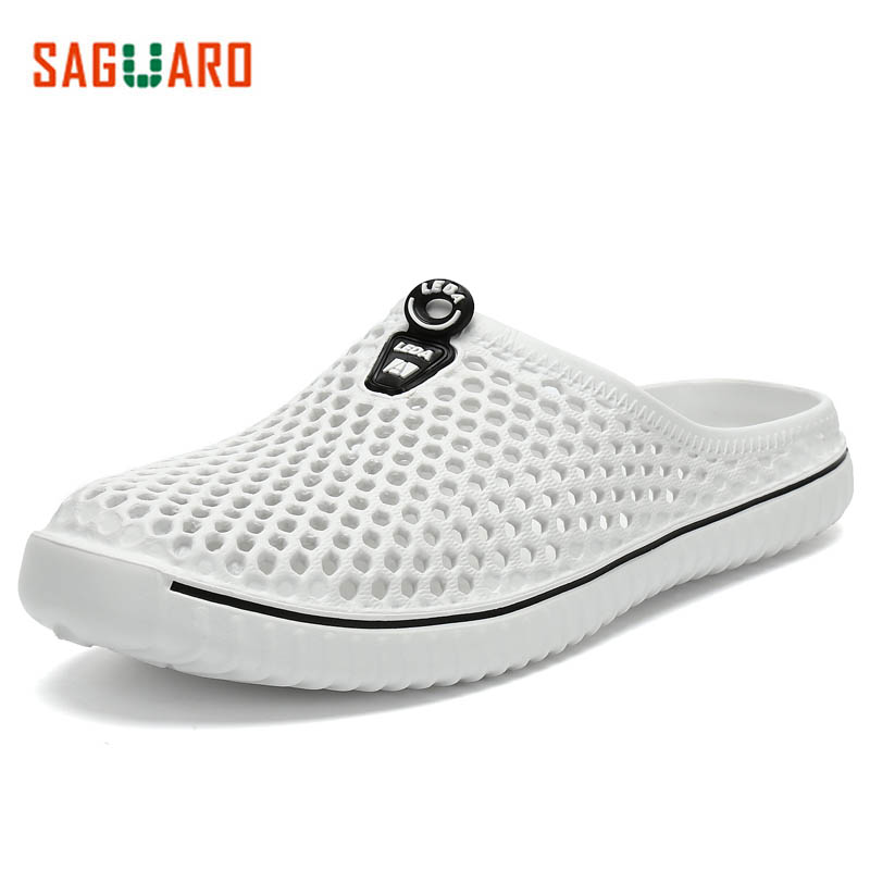 SAGUARO Men Sandals Summer Beach Shoes Casual Slippers