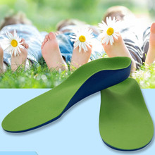 High-quality Children/Kids PU Sport Insoles Correction health feet  Arch Support Orthopedic Shock Absorption Pads Shoe Cushions