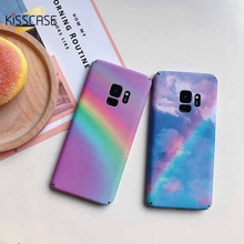 KISSCASE Fashion Raindow Case For Samsung Galaxy S7 S7 Edge S8 S8 Plus S9 S9 Plus Hard Matte Colorful Case For Samsung Note 8 kisscase candy colorful universal selfie stick for iphone 7 8 for huawei portable mini self timer for samsung galaxy s8 s9 plus