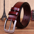 2016 New Brand Designer Belts Men High Quality Black Brown Male Genuine Leather Automatic Belt Free Shipping Wholesale