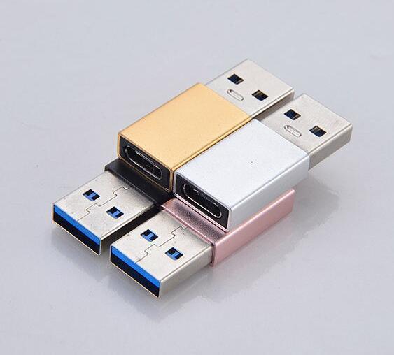 USB 3,1 Typ C Adapter USB 3,0 Männlichen zu USB C Weibliche Adapter Konverter für Macbook Huawei P9 Xiaomi 4C Nexus 5X 6P