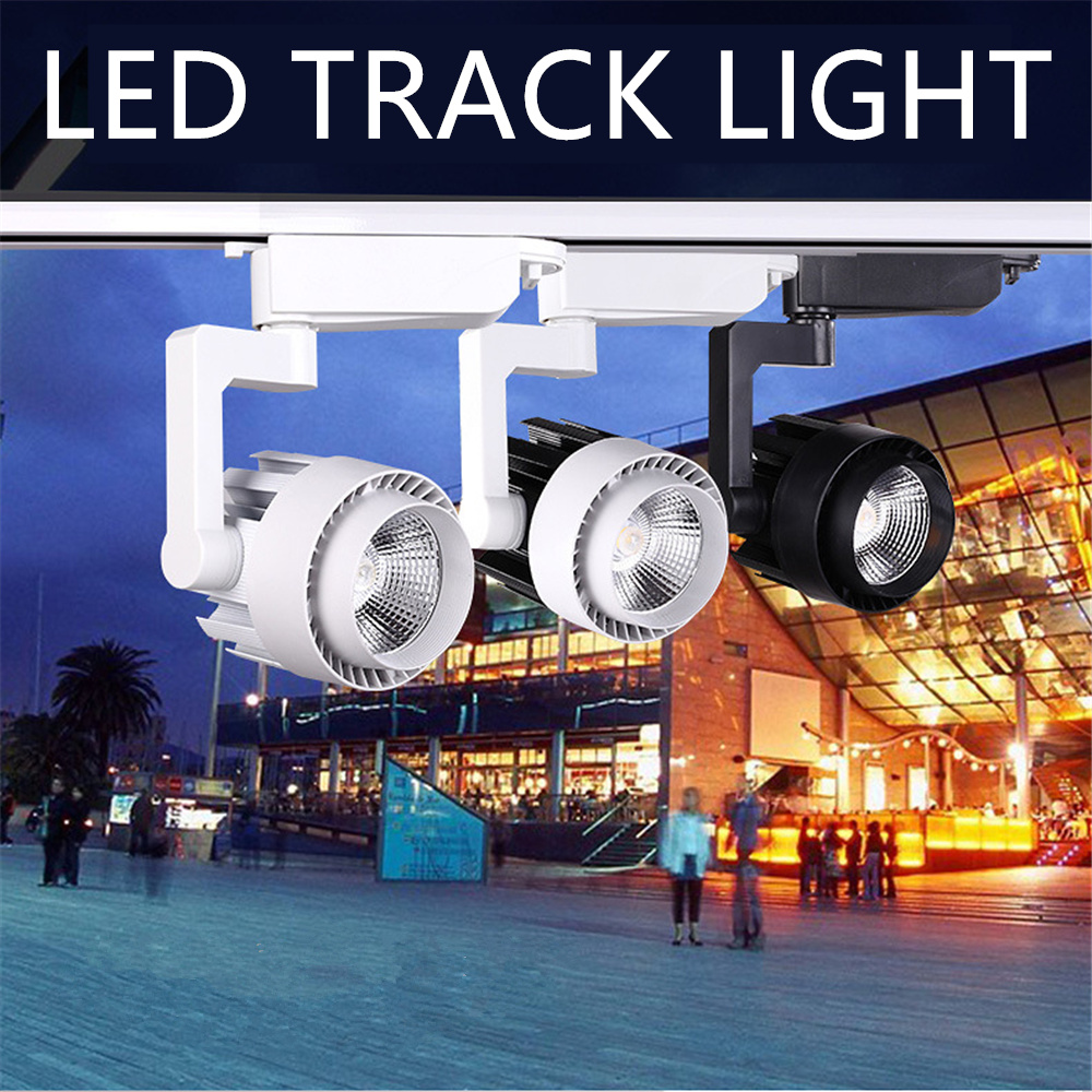 Modern LED Track Light Lamp 15W 20W 30W 36W 2 Wire Clothing Shop Windows Showrooms Exhibition Spotlight COB Rail Spot