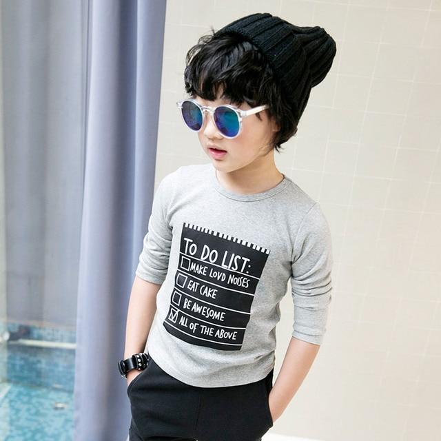 The Chinese children Childrens Boys T-shirt 2017 new spring children T-shirt long sleeve shirt 5055