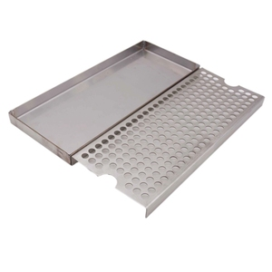 """Image 2 - Surface Mount Drip Tray No Drain, 12""""L x 5""""W x 3/4""""H, 304 Stainless Steel, Homebrew Beer Drip Tray"""