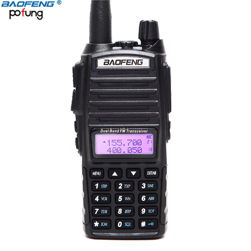 BAOFENG UV-82 Professionale Walkie Talkie VHF/UHF Dual Band A Lungo Raggio 2 PTT 5 w Two Way Radio UV82 amatoriale Bidirezionale CB Ham Radio