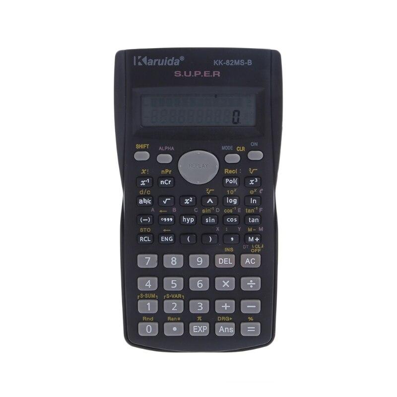 Новый Функция калькулятор 82MS-A Ручной Multi-Функция 2-линии Дисплей цифровой ЖК-дисплей научный калькулятор оптовая продажа наивысшего качест...