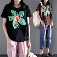 2016 Women S New Summer Cotton Plus Plus Size Short Sleelve Printing High Quality T Shirt