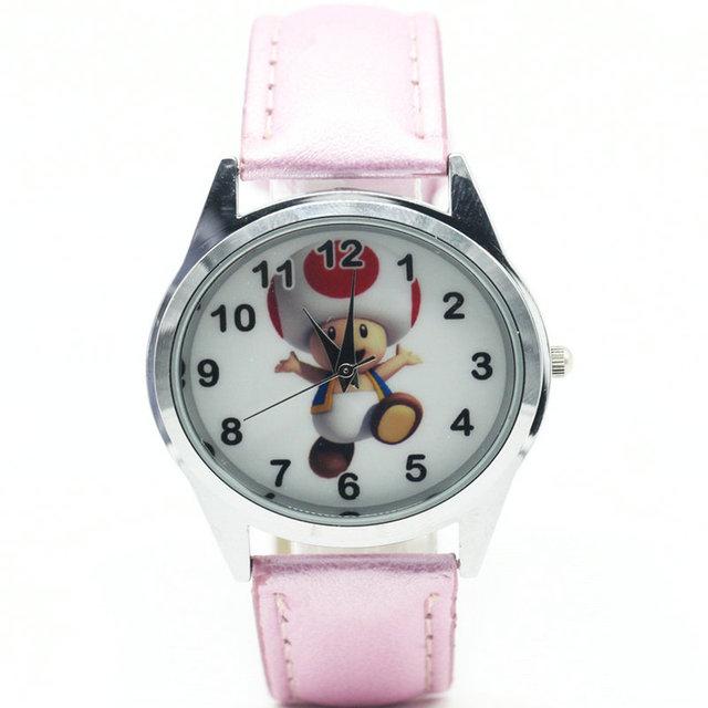 2018  super mario Toad watch Quartz Kids Sports fashion cartoon Watch Wristwatch Boy Students Christmas Relogio gift watch