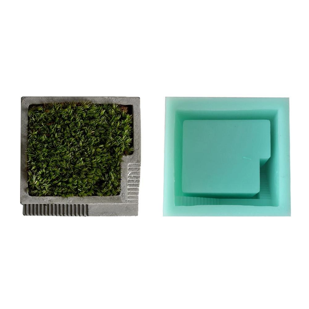 2018 DIY silikon form Beton Platz mit treppen blume desktop moss bonsai zement multi-blume töpfe form handgemachte