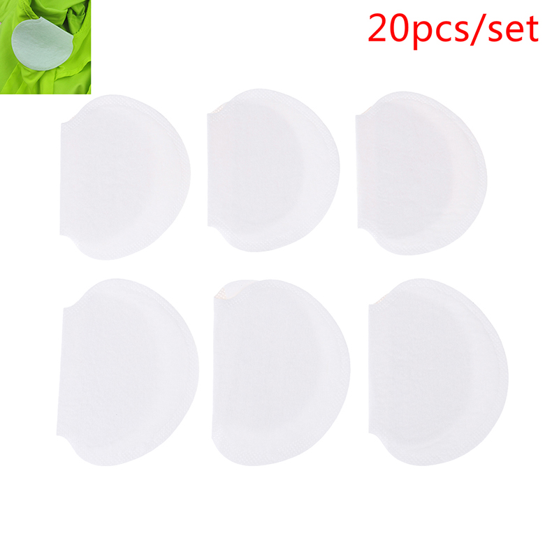 20pcs Disposable Armpit Sweat Pads Deodorant Stop Perspiration For Summer Clothing Gaskets Underarm Guard Pads Men Women