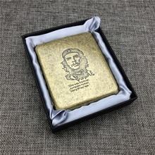 цена на GPM02 Che Guevara Anniversary Cigarette Bronze Metal Cigarette Boxes for 20 Regular Smoking Accessories Che Guevara