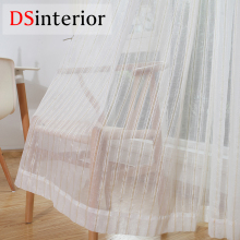 все цены на DSinterior stripe design tulle sheer curtain for bedroom or living room window