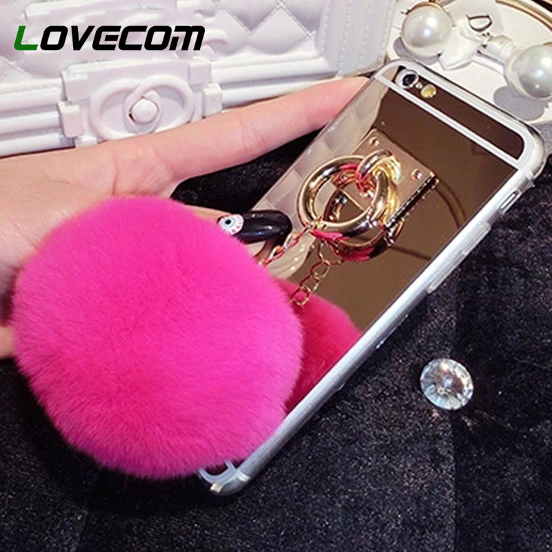 Cellphones & Telecommunications Amiable Lovecom For Samsung Galaxy J2 J3 J5 J7 2015 2016 2017 J330 J530 J730 Eu Ver Cover Mirror Rabbit Fur Ball Pendant Soft Tpu Cases To Have A Long Historical Standing Fitted Cases