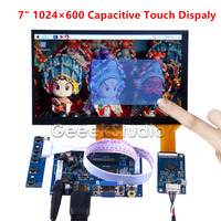 2017 Newest 7 Inch 1024 600 Display Capacitive Touch Screen Monitor For Raspberry Pi Windows PC