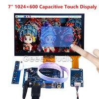 7 pollici 1024*600 Capacitivo Display Touch Dello Schermo del Monitor per Raspberry Pi 4B Tutti I Platfom/PC/BeagleBone trasporto Libero nero Spina Conducente