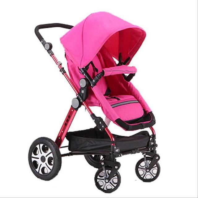 Baby Umbrella Stroller Car Super Lightweight Anti-Shock High Landscape Pushchair Inflatable Tire 3 in 1