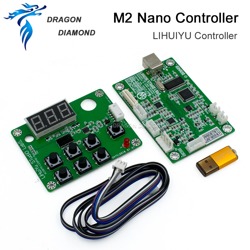 LIHUIYU M2 Nano Laser Controller Mother Main Board + Control Panel + Dongle B DIY Engraver Cutter System 3020 3040 K40 Machine