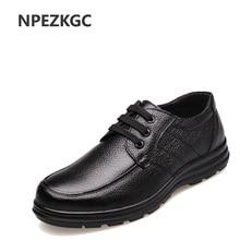 NPEZKGC Genuine leather men casual shoes,handmade fashion comfortable breathable men shoes comfortable casual shoes