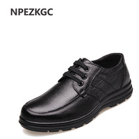 NPEZKGC Genuine Leather Men Casual Shoes Handmade Fashion Comfortable Breathable Men Shoes Comfortable Casual Shoes