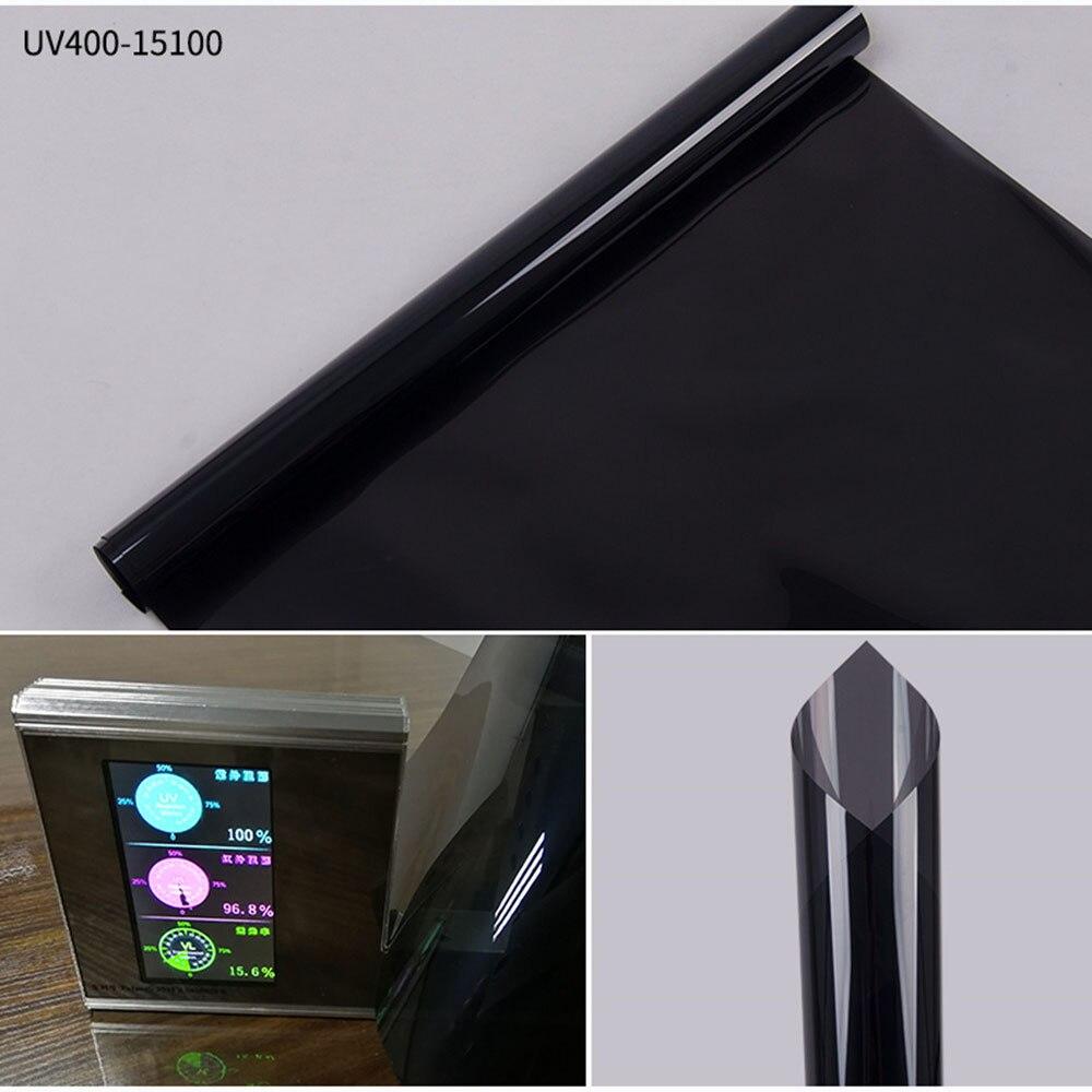 HOHOFILM 1.52x30 m 15% VLT noir fenêtre Film feuille de verre solaire teinte voiture maison bureau fenêtre autocollant 100% UV preuve en gros 100ft
