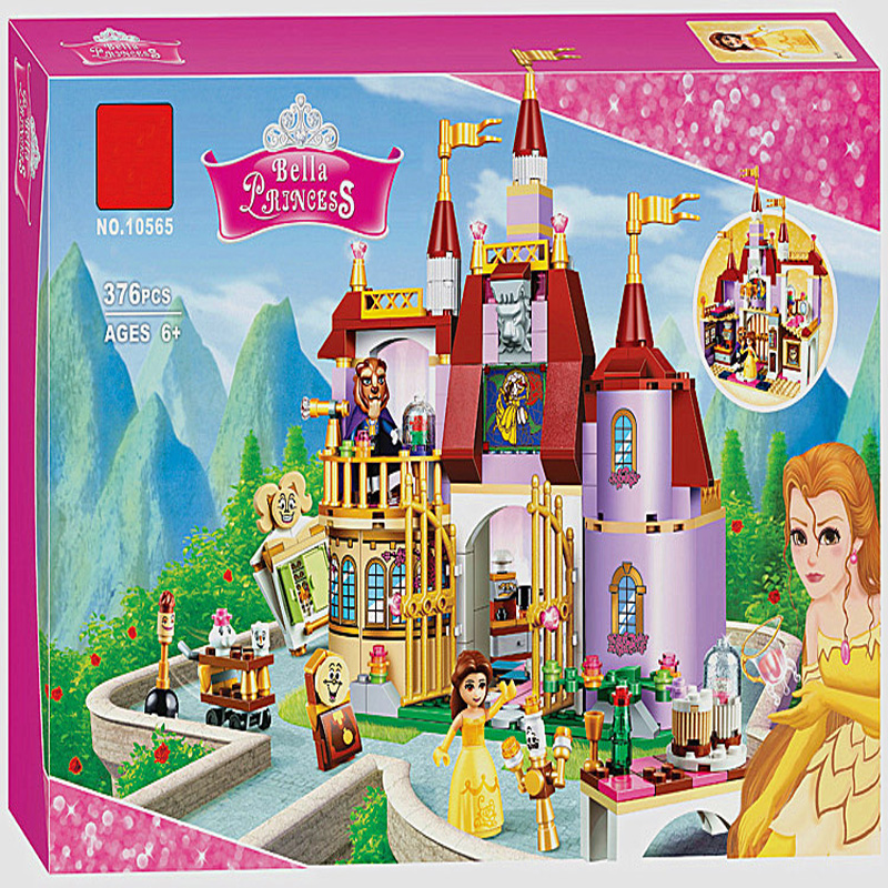 41067 Princess Girl Belle's Enchanted Castle Building Blocks Toy Set Castle Lepine Bricks Gift Toys Compatible With Friends 10551 elves ragana s magic shadow castle building blocks bricks toys for children toys compatible with lego gift kid set girls