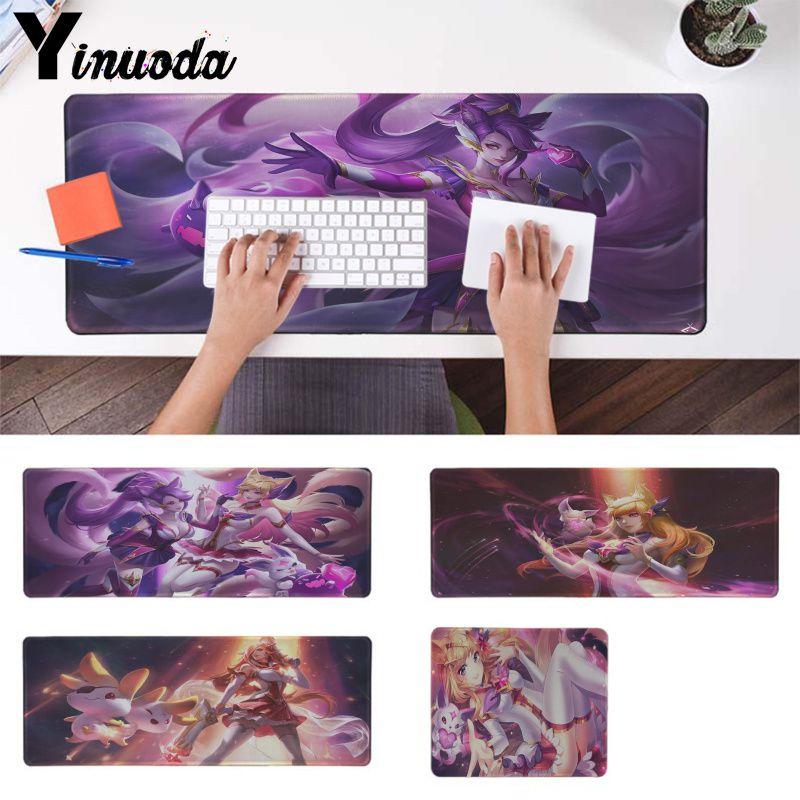 League of Legends KDA Mouse Pad 90*40cm Ahri Akali Kaisa LOL Desktop Laptop Mat