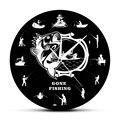 Настенные часы Gone Fishing  современные декоративные настенные часы для ловли окуня  рыбалки  рыбаков  забавные настенные часы для мужчин  пещер...