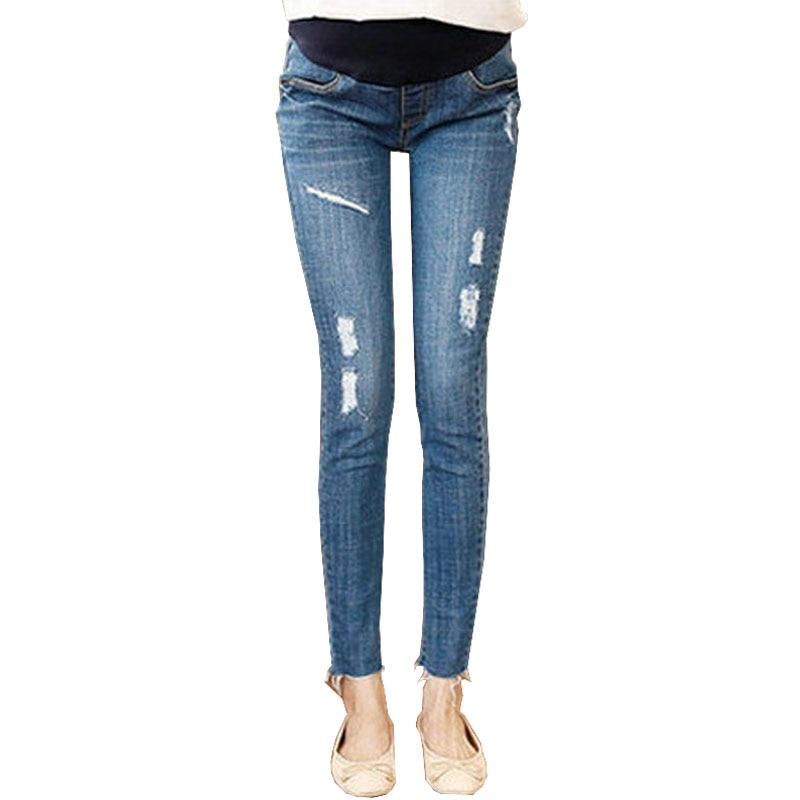 Abdominal Maternity Jeans For Pregnant Women Clothes Denim Pants Pregnancy Trousers Prop Belly Stretch Nursing Capri Pants